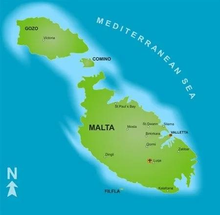 Map of Origins for Maltese Dog